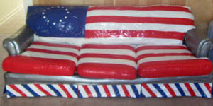 Patriotic Couch Ala Duct Tape This Is What My Brother, A Good Friend And I  Did On Our July 4th Afternoon To Add Some Patriotic Spunk To The Living  Room.