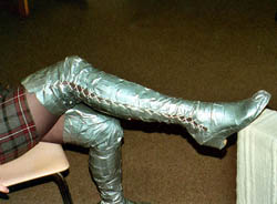 These Boots Were Made From Duct Tape For A Final Exam I This Pair Of Attached Long Underwear To Socks Create The
