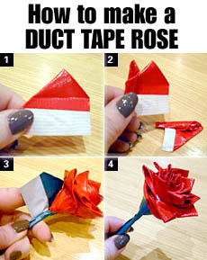 Gallery For gt Duct Tape Flowers Instructions